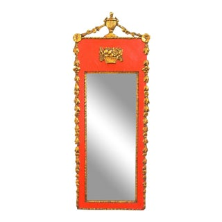 19th C. Red & Giltwood Regency Mirror