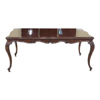 Karges French Louis XV Walnut Dining Room Table For Sale