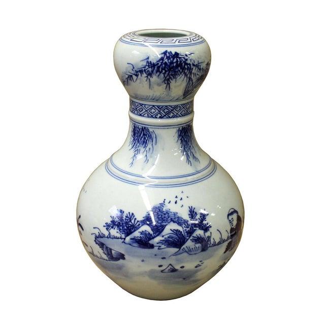 "Chinese Suantouping Blue & White Porcelain ""Garlic-mouth"" Vase - Image 3 of 7"