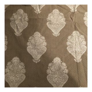 Reversible Small Diamond Quilted Taupe Beige and Ivory Fabric - 4.5 Yards