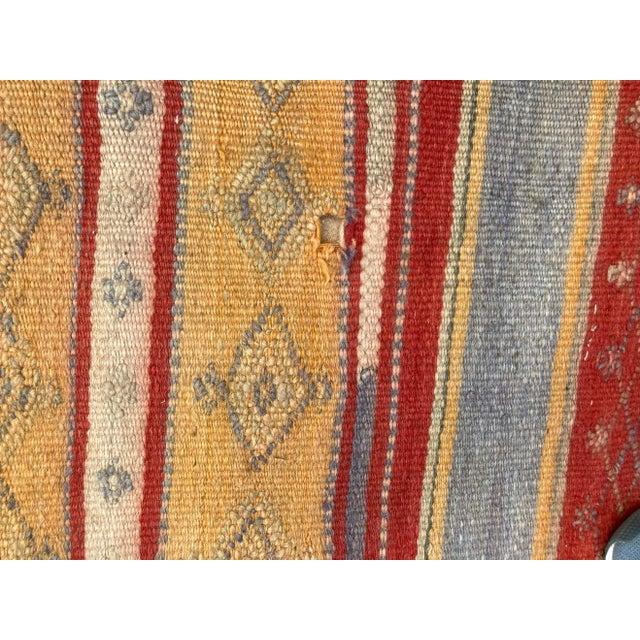 1960s Vintage Moroccan Tribal Kilim Rug, circa 1960 For Sale - Image 5 of 13
