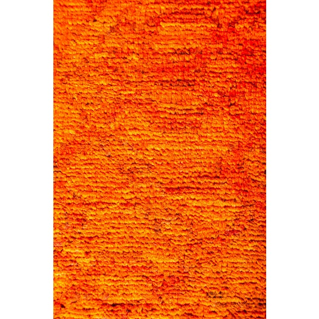 "New Hand-Knotted Overdyed Orange Rug - 8'3"" X 9'10"" - Image 3 of 3"