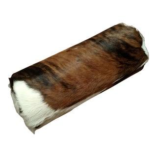 Gambrell Renard Cowhide Bolster Pillow