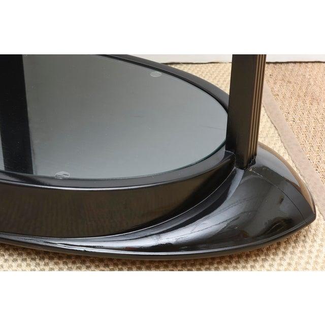 Black Art Deco Moderne Ebonized Sculptural Bar Cart or Trolley For Sale - Image 8 of 10