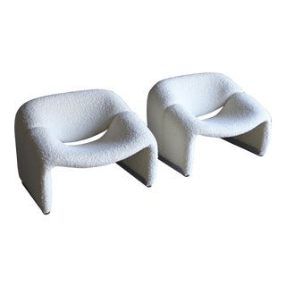 Pierre Paulin F598 Groovy Lounge Chairs for Artifort Circa 1972 For Sale