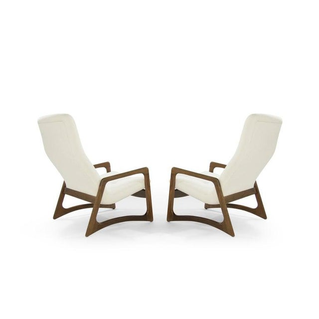Danish Modern Sculptural Walnut Lounge Chairs by Adrian Pearsall for Craft Associates - a Pair For Sale - Image 3 of 13