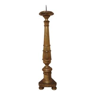 Antique Giltwood Altar Stick Candlestick