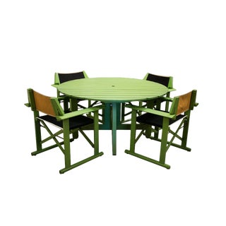 1970 Fratelli Reguitti Patio Set, Italy For Sale