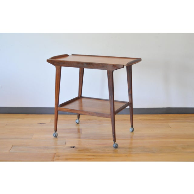 Brown Mid Century Modern Teak Bar Cart/Drinks Trolley For Sale - Image 8 of 8