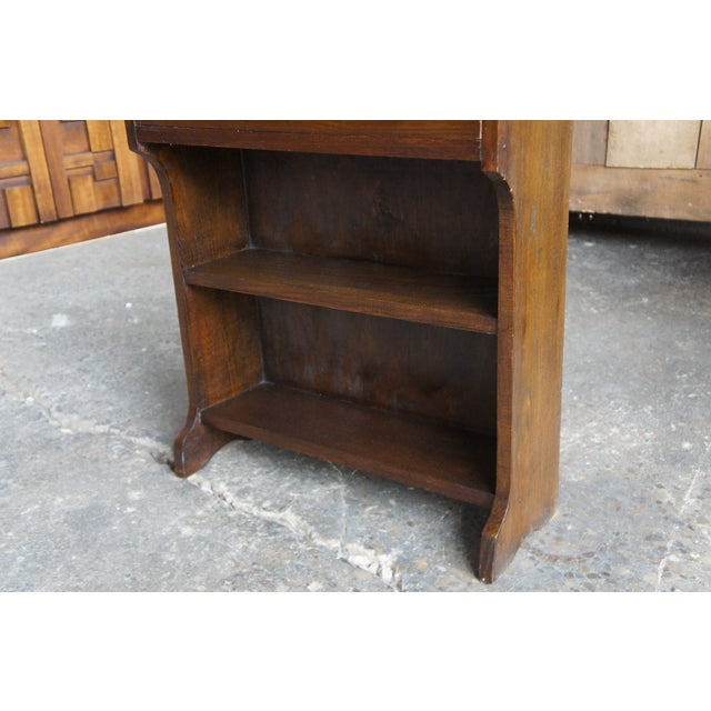 Antique Country Walnut Primitive Secretary Desk For Sale - Image 11 of 13