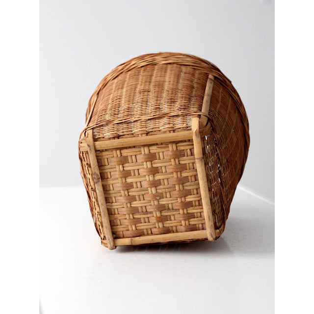 Vintage Woven Reed Basket - Image 4 of 10