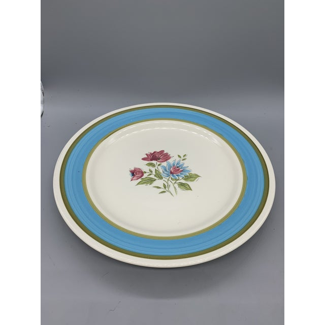 1950s Japan's Blue Lagoon Chop Plate For Sale - Image 5 of 9
