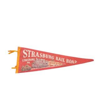 Strasburg, PA Railroad Felt Flag