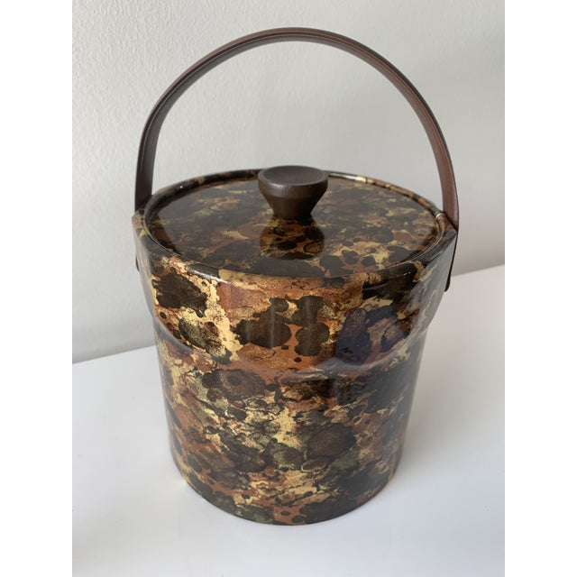 Brown 1960s Mid-Century Ice Bucket For Sale - Image 8 of 8