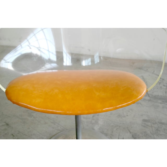 Mid-Century Modern 1950's Lucite Chair and Cigarette Placement Piece For Sale - Image 3 of 8