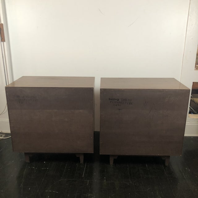 Mid-Century Modern Milo Baughman for Drexel Perspective Chests - a Pair For Sale - Image 3 of 12