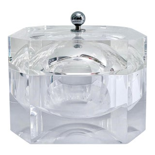 Vintage Lucite Faceted Ice Bucket For Sale