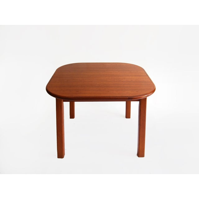 1970s Vintage Mid-Century Modern Teak Extending Dining Table by D-Scan For Sale - Image 5 of 11