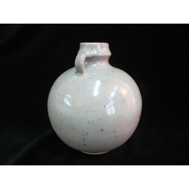 Early 20th Century Antique Chinese Celadon Globular Pot With Double Loop Handles For Sale - Image 5 of 7