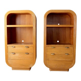 Mid-Century Rattan Cabinet - a Pair For Sale
