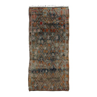 Vintage Moroccan Rug With Modern Bauhaus Style, 06'08 X 14'00 For Sale