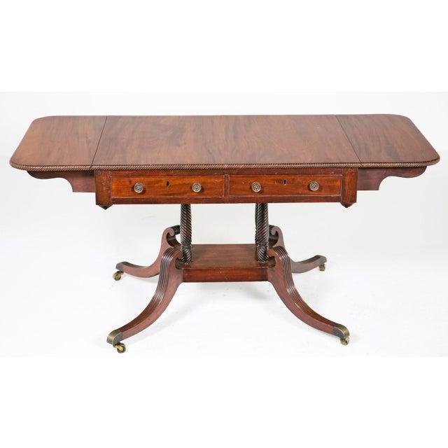 English Regency Mahogany Sofa / Writing Table - Image 3 of 9