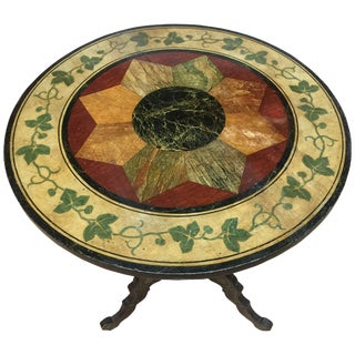 19th Century Napoleon III Painted Round Tilt-Top Table For Sale