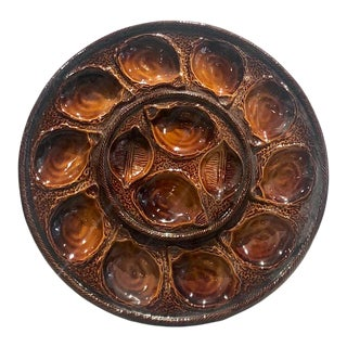 Circa 19th Century Large Saugermines Oyster Platter, France For Sale