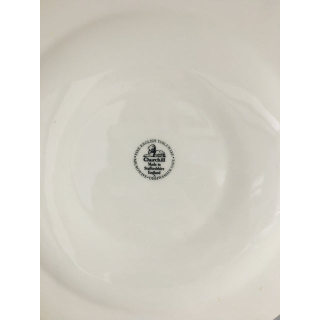 Tonquin Pattern Plates Made by Churchill - Set of 4 For Sale - Image 5 of 6
