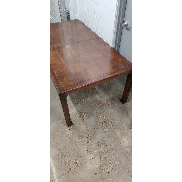 Henredon Asian MidcenturyStyle Dining Table For Sale - Image 9 of 12