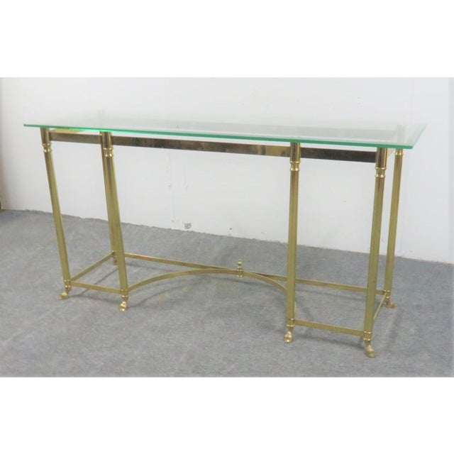 Strange Labarge Brass Glass Console Sofa Table Andrewgaddart Wooden Chair Designs For Living Room Andrewgaddartcom