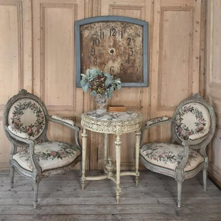 Pair 19th Century French Louis XVI Painted Armchairs Preview