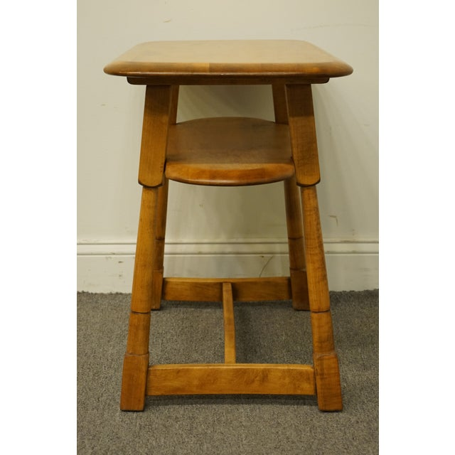 """Mid 20th Century Mid Century Modern Solid Hard Rock Maple 25x15"""" End Table For Sale - Image 5 of 10"""