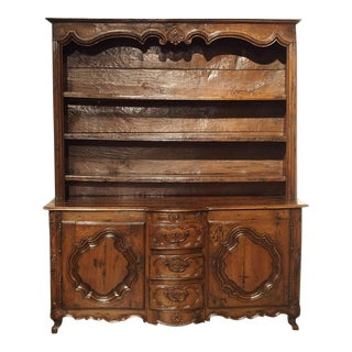 17th C. French Vaisselier From Lorraine With Bombe Center Drawers For Sale