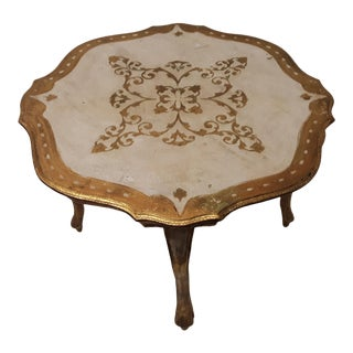 1950s Italian Florentine End Table For Sale