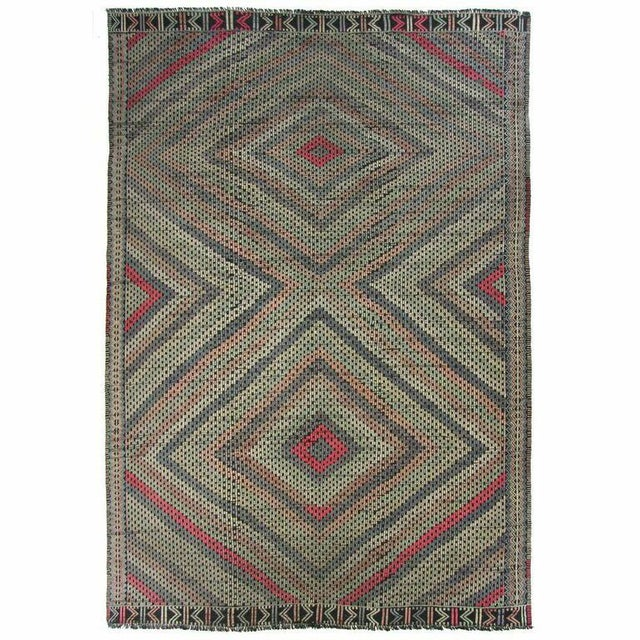 Vintage Cicim Turkish Kilim - 6'7'' x 9' - Image 1 of 4
