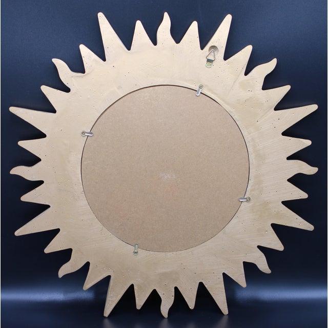 Vintage Golden Gilt Convex Sunburst Mirror For Sale - Image 9 of 11