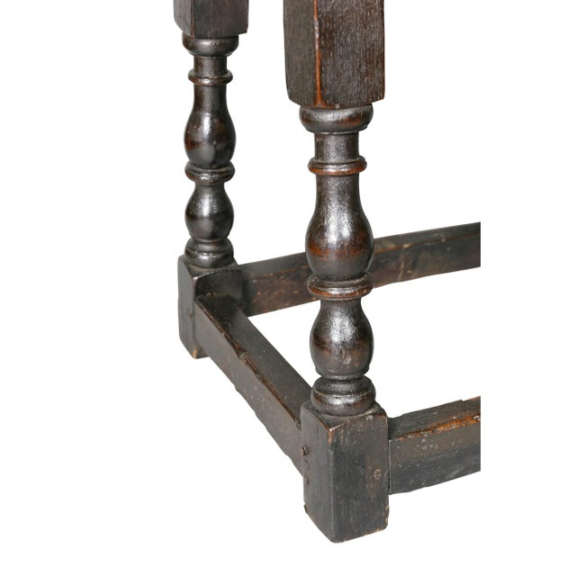 17th Century Jacobean Oak Joint Stool For Sale - Image 5 of 10