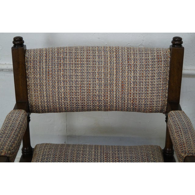 Regency Style Directors' Arm Chairs - Set of 4 For Sale In Philadelphia - Image 6 of 10