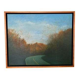 1990s Fall Landscape Oil Painting For Sale
