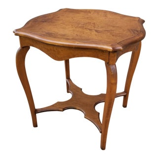 Antique Serpentine Side Table For Sale