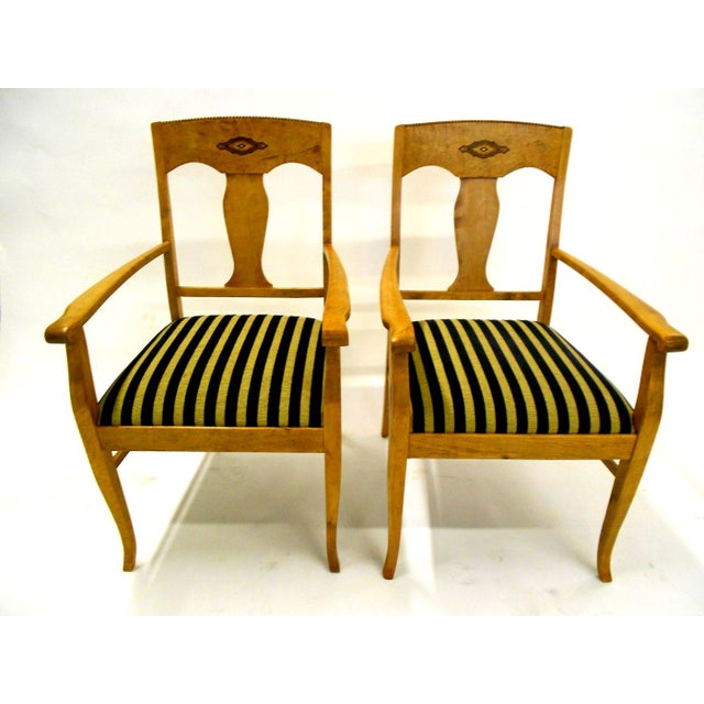 Swedish Jugendstil Birch Armchairs - A Pair - Image 2 of 8
