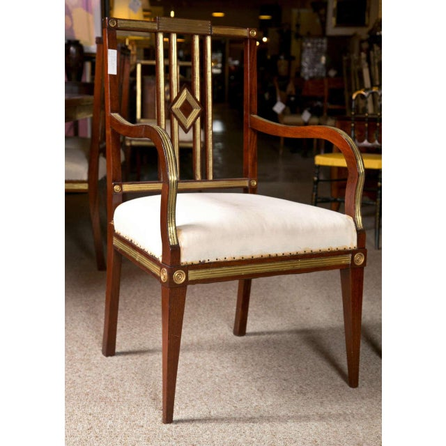 Art Deco Russian Neoclassical Dining Chairs - Set of 11 For Sale - Image 3 of 9
