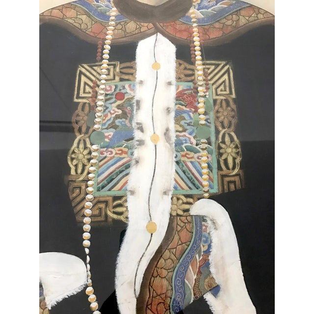 Chinese Ancestor Painting of a High Ranking Gentleman For Sale In Tampa - Image 6 of 10
