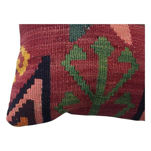 Floral Kilim Fragment Pillow - Image 4 of 4