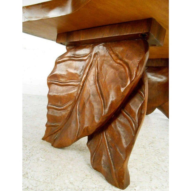 1970s Vintage American Carved Tables - Set of 3 For Sale - Image 5 of 6
