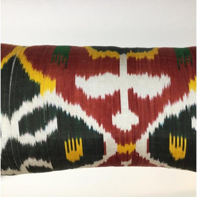 Silk Ikat Lumbar Pillows - a Pair For Sale - Image 10 of 13