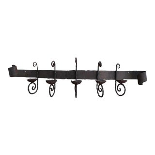Antique Iron Wall Sconce For Sale