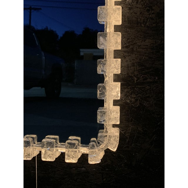 Illuminated Acrylic Resin Mirror For Sale - Image 10 of 12
