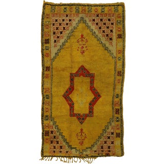 "Vintage Berber Moroccan Tribal Style Rug - 4'11"" x 8'9"" For Sale"
